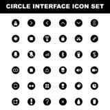 Set of mobile smartphone interface vector illustration