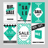 Set mobilni sztandary dla online zakupy Wektorowi ilustracja socjalny i strony internetowej środki, plakaty, email gazetki projek Obrazy Stock