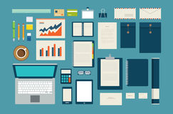 Set of mock up business template office tool royalty free illustration