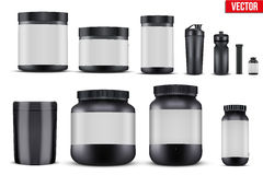 Set Mockup Sport Vitamin Containers Stock Photos