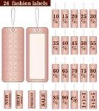Set 26 mod etykietek w menchiach barwi Zdjęcia Stock