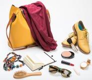 Set mod kobiet akcesoria Zdjęcie Stock