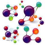 Set of models of molecules infographics Stock Image