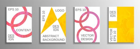 A set of modern abstract covers. stock illustration