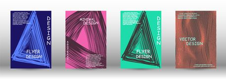 A set of modern covers. royalty free illustration