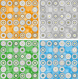 Set of modern backgrounds with circles. Illustration of set of modern backgrounds with circles Stock Image