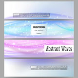 Set of modern banners. Abstract wave vector Royalty Free Stock Photography