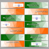Set of modern banners. Background for Happy Indian Independence Day celebration  Stock Photo