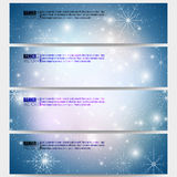 Set of modern banners. Blue abstract winter Royalty Free Stock Photo