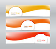 Set of modern  banners Stock Photos