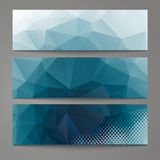 A set of modern  banners with polygonal background Stock Image