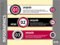 Set modern banners or template of  infographics Royalty Free Stock Images