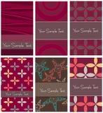 Set of modern beautiful business cards Stock Photo
