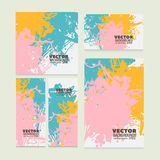 Set of modern bright colorful vector design for the background Stock Image