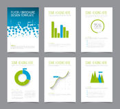 Set of modern brochure flyer design templates Stock Photo
