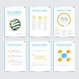Set of modern brochure flyer design templates Royalty Free Stock Image