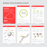 Set of modern brochure flyer design templates Royalty Free Stock Photos