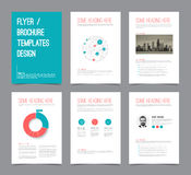 Set of modern brochure flyer design templates Royalty Free Stock Images