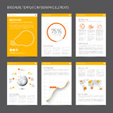 Set of modern brochure flyer design templates Royalty Free Stock Photography