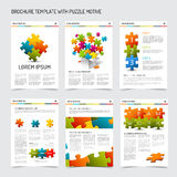 Set of modern brochure flyer design templates Stock Photography