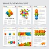 Set of modern brochure flyer design templates Stock Photography