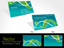 Set of modern business card templates Stock Image
