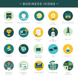 Set of modern business icons Stock Image