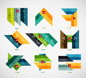 Set of modern business infographic templates Stock Photos