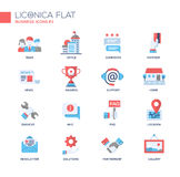 Set of modern business office flat design icons and pictograms Royalty Free Stock Image