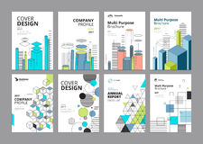 Set of modern business paper design templates Royalty Free Stock Images