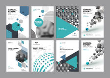 Set of modern business paper design templates Royalty Free Stock Photography