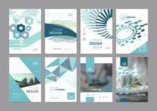 Set of modern business paper design templates Royalty Free Stock Photo
