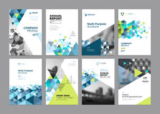 Set of modern business paper design templates Stock Image