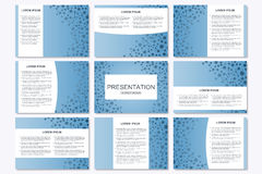 Set of modern business presentation templates in A4 size. Royalty Free Stock Photo