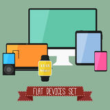 Set of Modern Business UI Devices Royalty Free Stock Photo