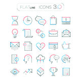 Set of 25 modern bussiness icons. Vector. Set of 25 minimal thin line connection business icons. Modern vector illustration concept,  on white background. Can Royalty Free Stock Photography