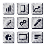Set of modern buttons icons Stock Photography