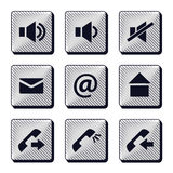 Set of modern buttons icons Stock Images