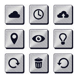 Set of modern buttons icons Royalty Free Stock Image