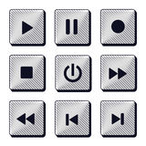 Set of modern buttons icons Royalty Free Stock Photos