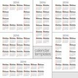 2014. Set Modern calendars. Stock Photography