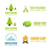 Set of modern camp badges, logo, emblem and Stock Image