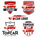 Set of modern car logo, emblems and badges. Vector illustration Royalty Free Stock Photography