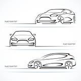 Set of modern car silhouettes. Stock Photos