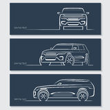 Set of modern car silhouettes. Stock Images