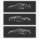 Set of modern car silhouettes. Stock Photography