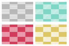 Set of modern checkered tablecloths patterns Stock Photos