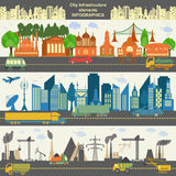 Set of modern city elements for creating your own maps of the ci royalty free illustration