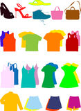 Set of modern clothes Royalty Free Stock Photo