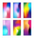 Set of modern colored wallpapers. Elegant Blurred phone background with gradient mesh. Deep Multicolor wallpaper for